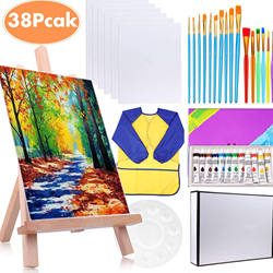 38pack hot sell kids canvas painting kit art Acrylic paint c