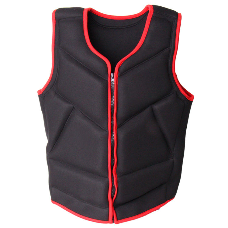 Solid Color Adult Life Jacket Zipper Life Jacket Neoprene Life Vest Jacket