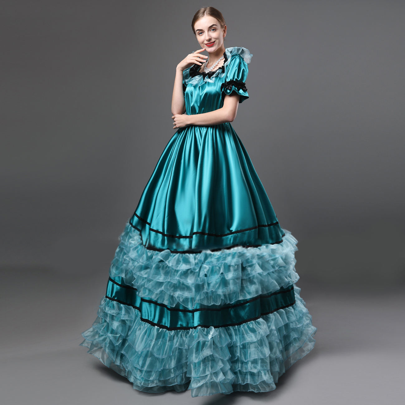 Victorian Southern Belle Masquerade Ball Gown Saloon Girl Dress