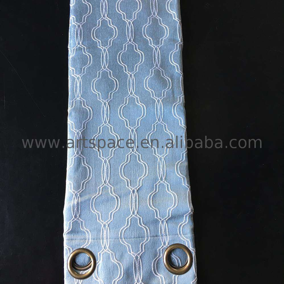 Mode Polyester Kain Jacquard Desain Tirai Panel Hot Sale