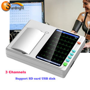 Cheap price ECG data fast transmitted 3 channel ECG machine SUN-7031