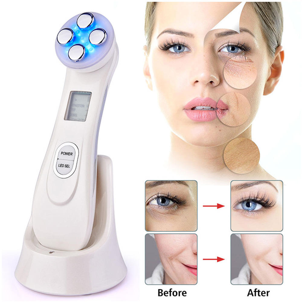 5 in 1 multifunction RF EMS LED beauty instrument Whitening skin tightening lifting home machine for sale