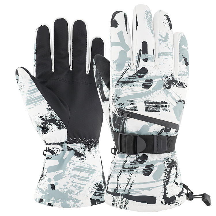 Top Seller 2021 Custom Wrist Leashes Touch Screen Snowboard Protector Ski Gloves
