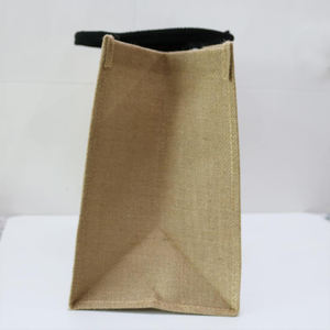 Custom logo Eco Organic Reusable Plain Large Shopping Tote Burlap Jute Bag With Handles