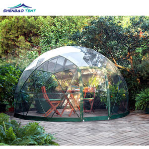 Custom luxury outdoor pvc clear garden igloo glamping hotel geodesic dome tent