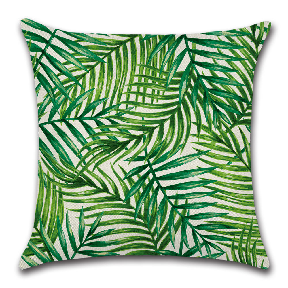 18*18Inch Tropical Rainforest Pillow Case Print Decorative Cushion Cover Green cojines decorative home sofa cover floor pillow