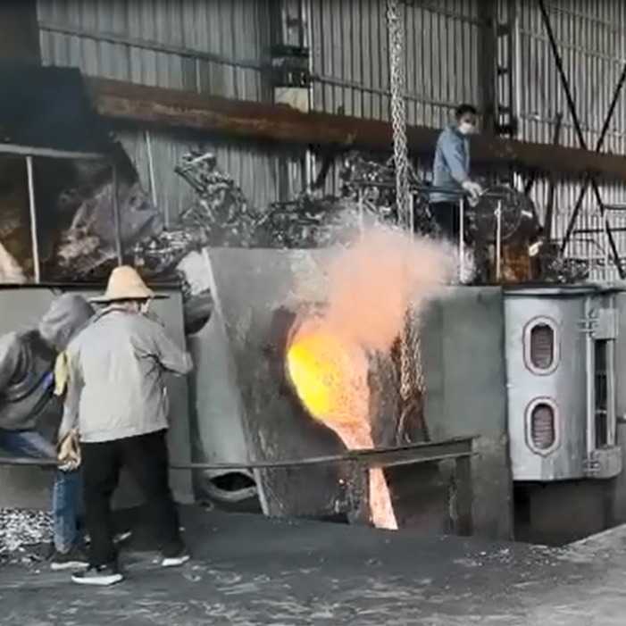 4 ton cast iron Induction Electric Melting scrap steel Furnace
