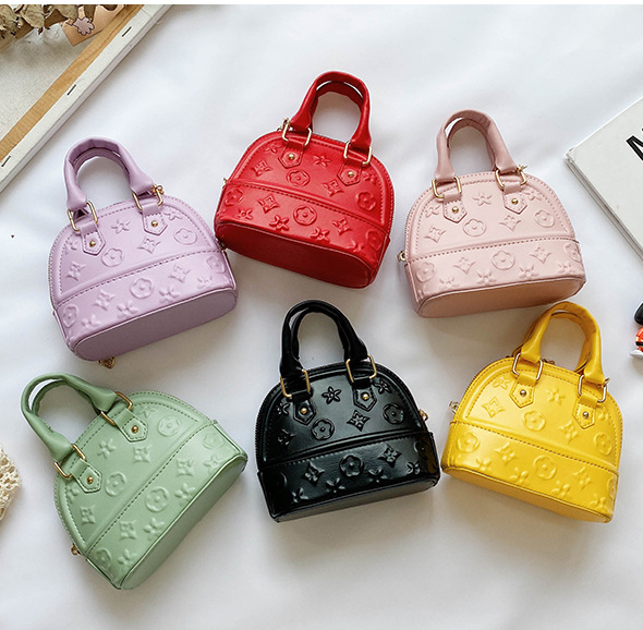 Baby Girls princess mini shell bag Cross body Bag with Chain children one-shoulder messenger bag kids coin purses kids purses