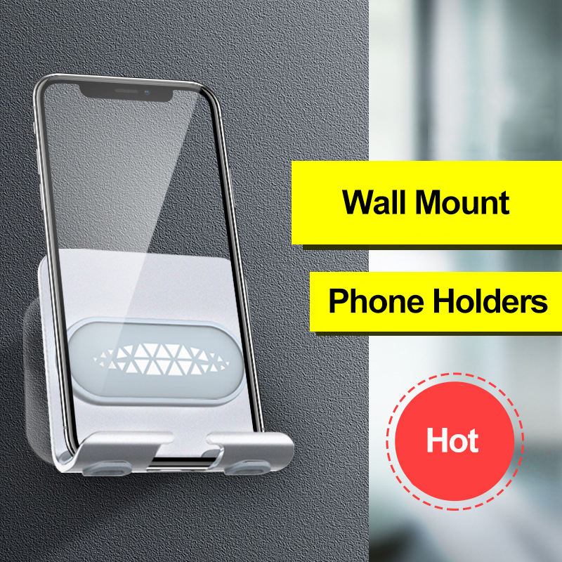 Wall Mount With Hook, 2 In 1 Multi Ajustable Angle Bathroom Universal Tablet Cellphone Holder/