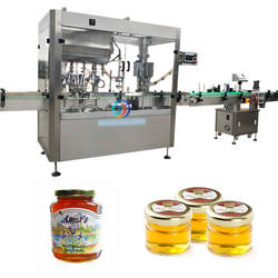 JB-JG4 Automatic honey maple syrup corn syrup bottle filling capping machine