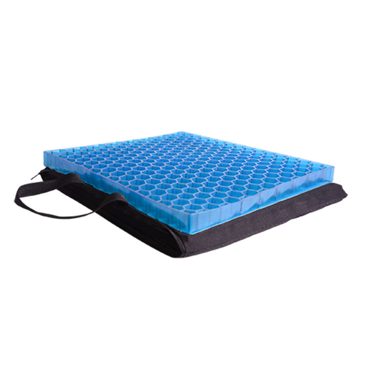 High Quality Factory Price Hexagon Honeycomb Design Gel Seat Cushion With Anti-slip Cover Hot in Sale