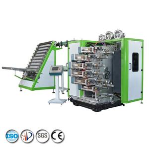 JinXin brand nine colors plastic cup screen printing machine for sale