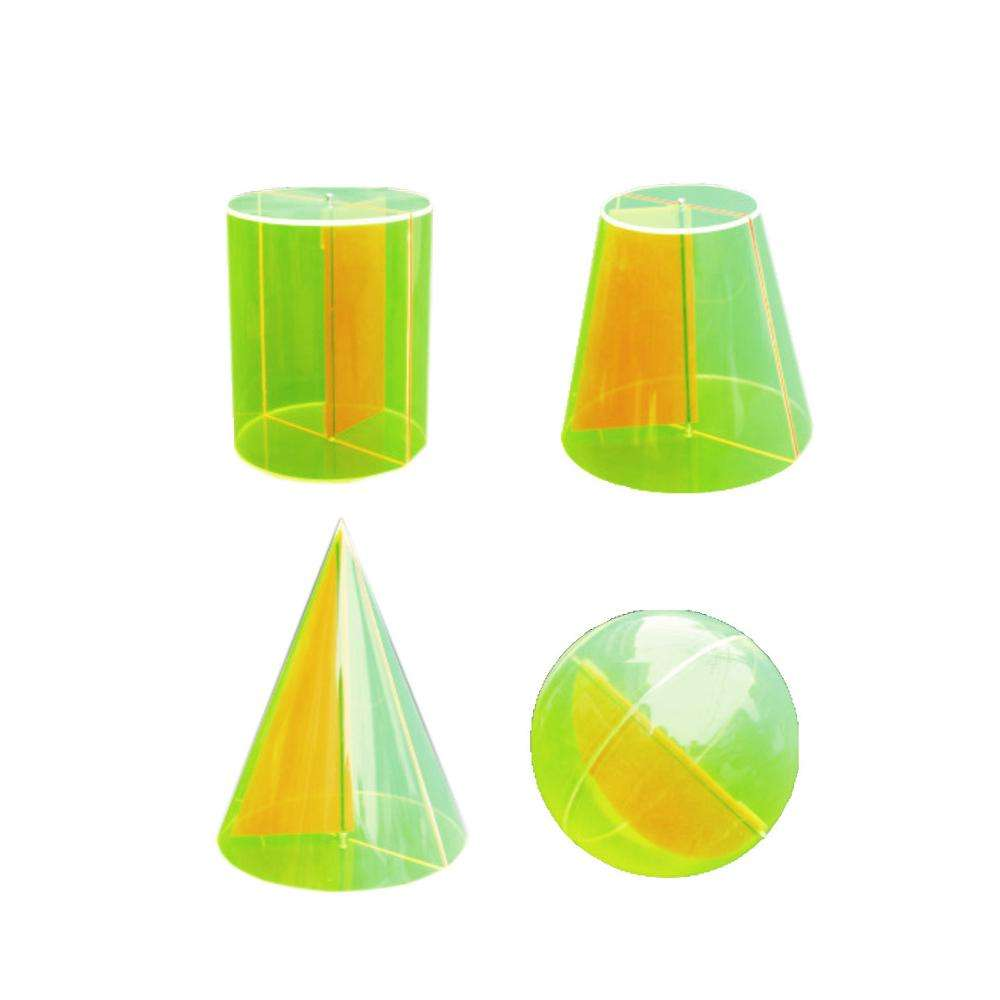 Gelsonlab HSMM-081 Educational 4pcs Geometric Solid of Revolution geometry model Geometric Shapes
