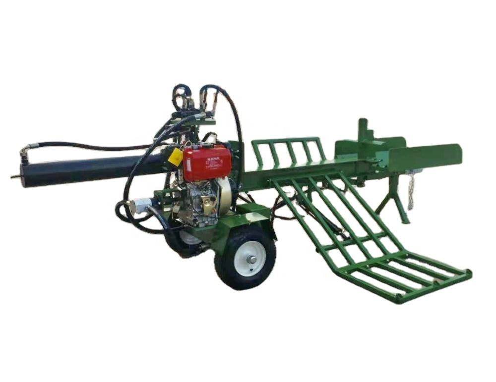 Hot Selling CE Approved 50T log splitter with log lift table splitting 1200mm wood 12hp diesel engine
