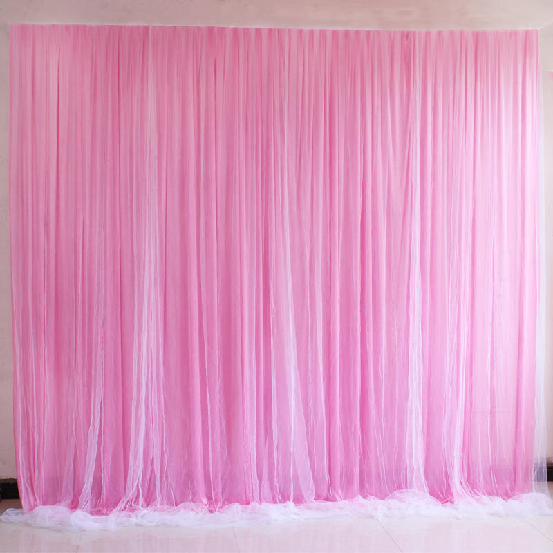 Ice Silk Elegant Wedding Backdrop Curtain Drape Wedding Supplies Curtain Drapes Background For Party Event