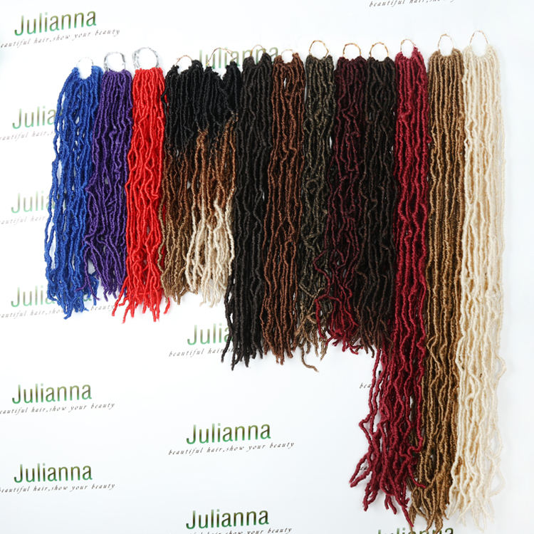 Synthetic Hair 14 18 24 36 inches Crochet New Locs Julianna Soft Locs Hair Faux Locs Crochet Braid Hair
