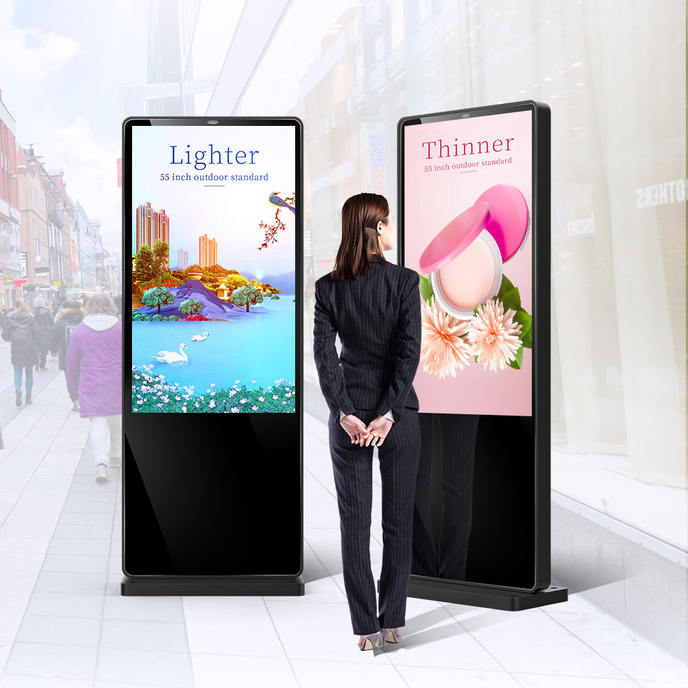Floor Stand Self Service Lcd Touch Advertising Display Machine Outdoor Digital Signage Kiosk Players
