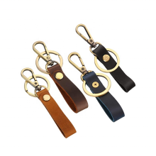 Handmade Genuine Leather Valet Keychain Leather Key Chain with Belt Loop Clip