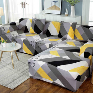New design pattern spandex fabric sofa elastic cover slipcover couch 3 2 1 seater stretchable sofa covers