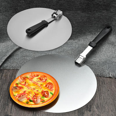 big stainless steel round shovel foldable metal 10 12 inch turning pizza peels