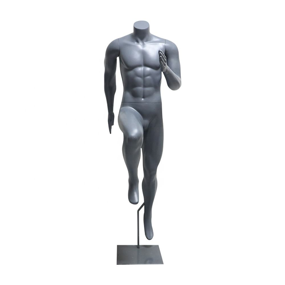 Man Full Body Headless Glasvezel Sterke Spier Mannen <span class=keywords><strong>Sport</strong></span> Running Man Etalagepop Atletische Mannequin Dummy <span class=keywords><strong>Sport</strong></span> Model