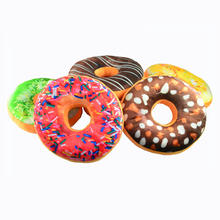 Custom 3D doughnut printed luxury car seat air cushion travel headrest throw decorative throw sleeping pillow