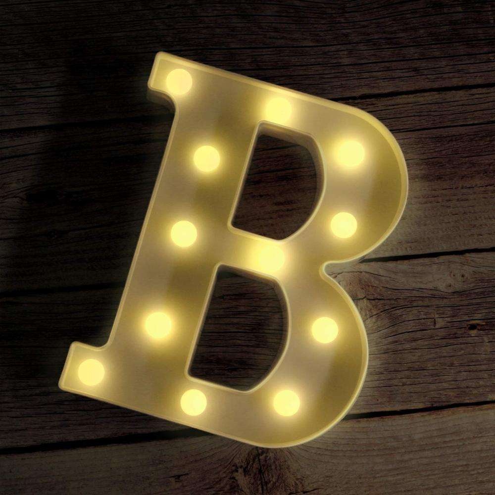 polyresin/resin led letter Novelty Place Alphabet Light - Marquee Letters Sign with Shining Bulbs, Standing Night Lamp