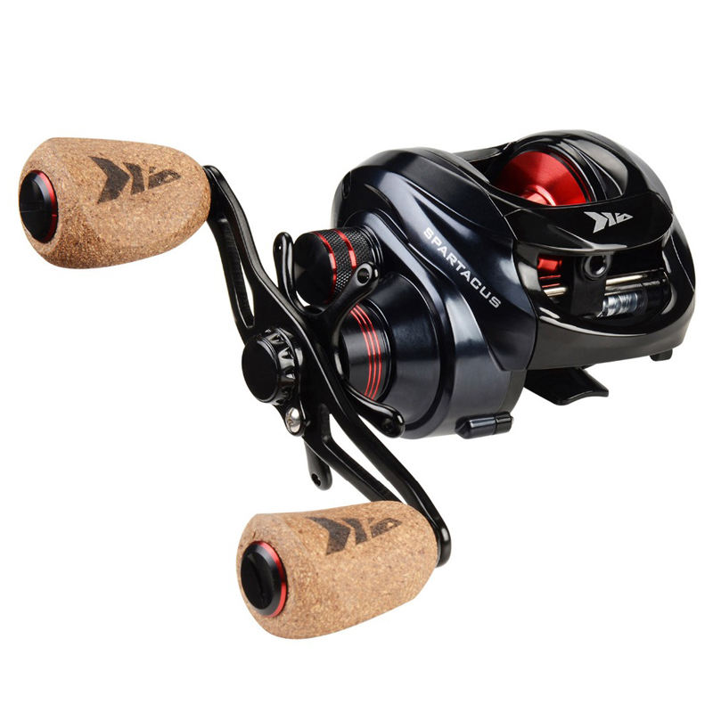 KastKing Spartacus Baitcasting Reel Dual Brake System Reel 8KG Max Drag 11+1 BBs 6.3:1 High Speed Fishing Reel