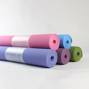 Good quality 4mm thickness custom double layer two color 100% tpe yoga mat