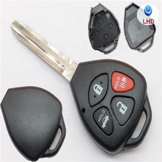 4 Buttons Remote Car Key Shell Case Fob For Toyota Camry 2007 2008 2009 2010 Avalon Corolla Matrix RAV4 Venza Yaris