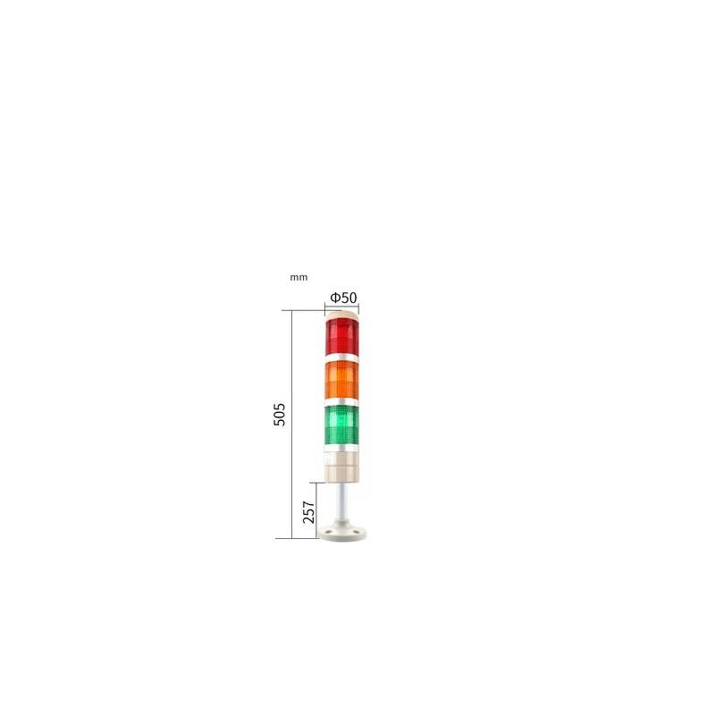 Stack Light Tower Light OABB Tower Warning Light 3Layer 220V Stack Light Without Buzzer Led Emergency Light 12V 24V 110V 220V