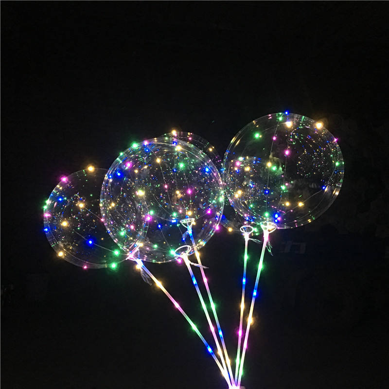 18Inch Air Helium Led Ballon Globos Ballons Decoratie Verjaardag Wedding Party Ballonnen Supplies Bobo Ballen