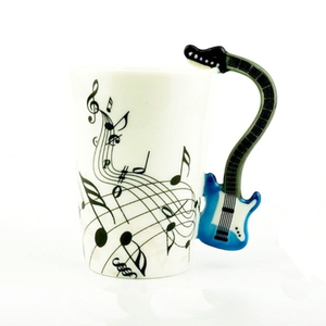 mug gift Tea Milk Fancy Coffee Cup Violin Style Guitar music personalized Creative Ceramic Mug