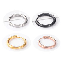 316l Surgical Stainless Steel Clipping Huggie Hoop Earring for men Women