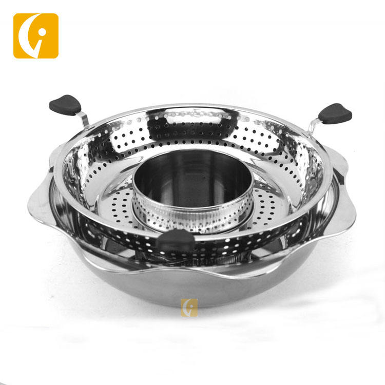 Hot sale hotel restaurant equipment stainless steel rotating lifting sun hot pot