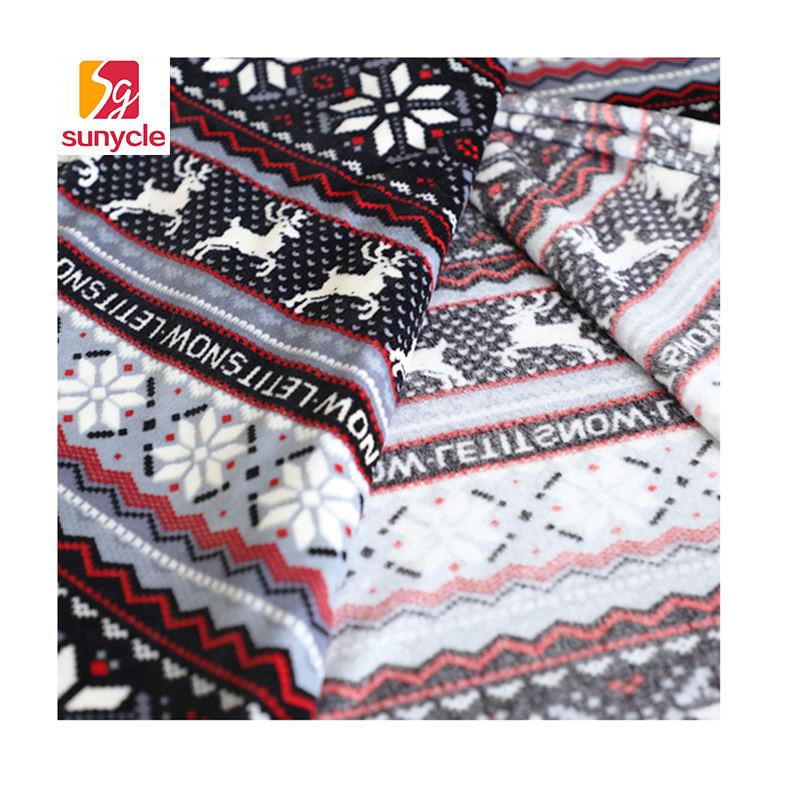 digital printed cotton super soft fleece fabric for hometextile