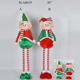 Hot selling standing extendable Christmas plush elf on shelf doll with striped legs