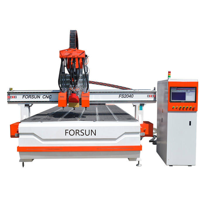 FORSUN Multi-function in advertising industry CCD+oscillating knife CNC router machine