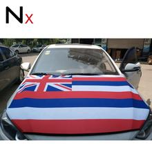 hot selling digital printing engine flag hawaii flag car honnet cover