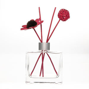 new empty 200ml flat rectangle square glass reed diffuser bottle