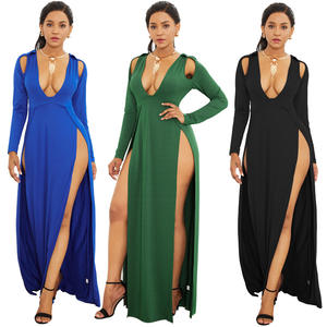 2020 Wanita Elegan Pensil Bahu Pesta Bodycon Pensil Midi Dress Wanita