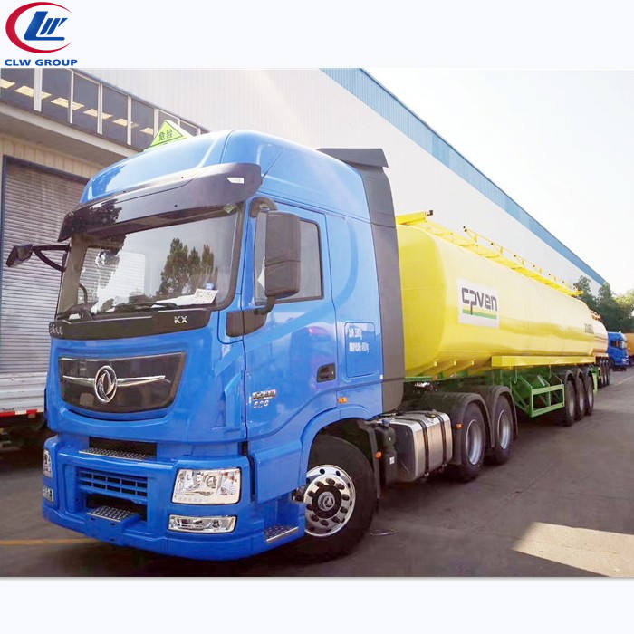 6*4 Tractor 3 axis Semitrailer 30000 liters Acid Liquid Oil of Vitriol Tanker Truck