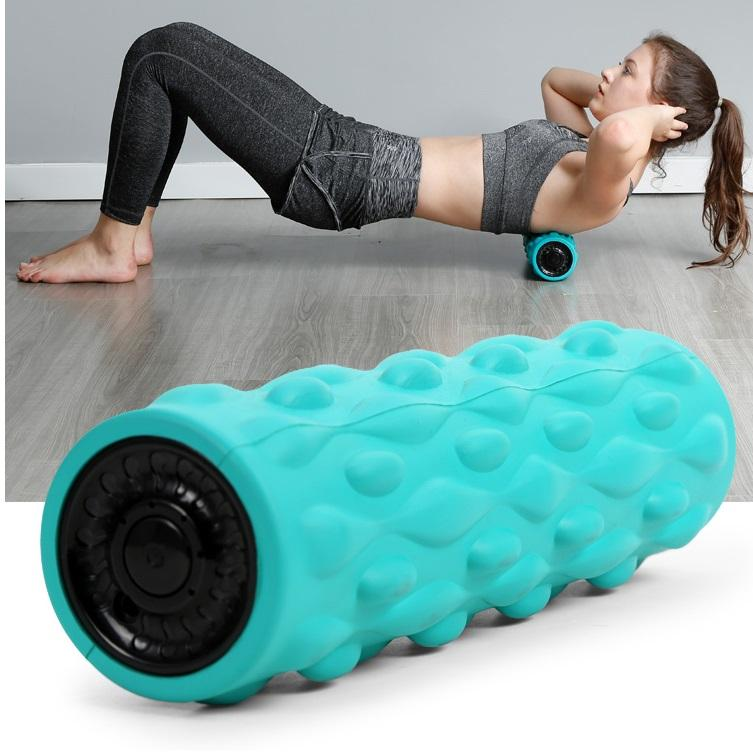 HUIFAN 4-Speed Vibrating Yoga Foam Roller - Deep Tissue Massage, Workout Recovery, Physical Therapy, and Muscle Relax