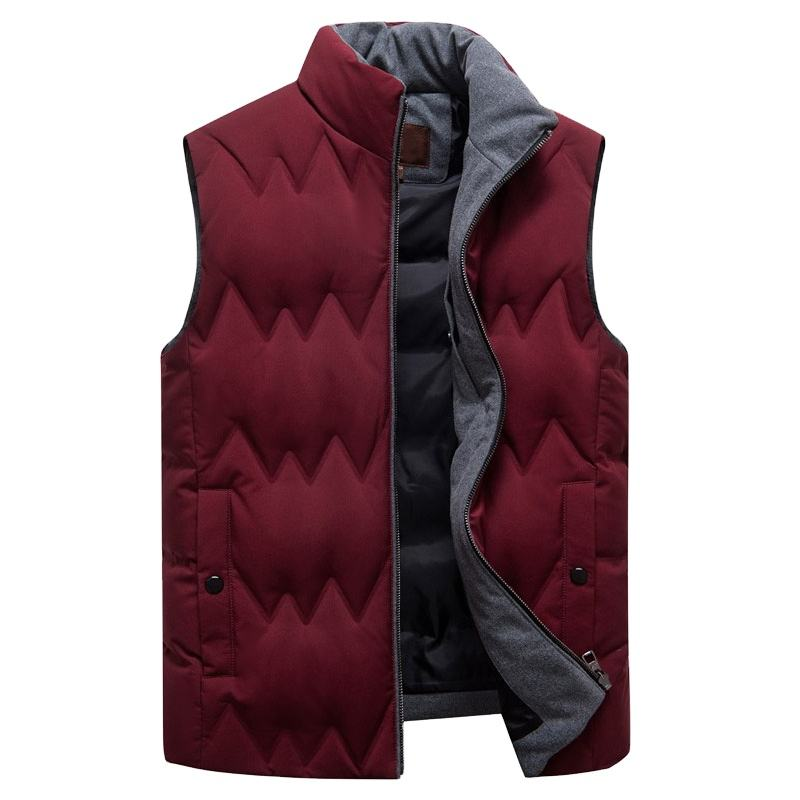 Light down vest men's jacket casual waistcoat