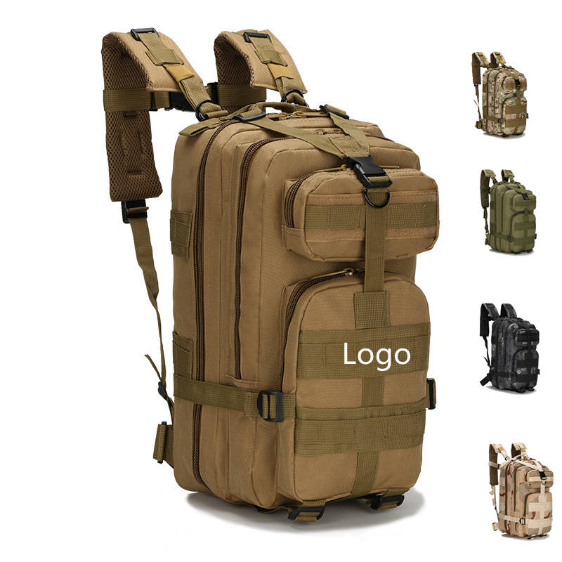 Small 25L Camping 3P Black Camouflage Sport 600D Waterproof Oxford Molle Army Military Tactical BackpackとAdjustable Strap