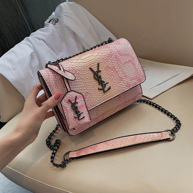 New fashion ladies crossbody bags luxury snakeskin leather womens handbags and purses