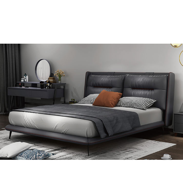 9693# FANDI modern simple king size beds simple double bed