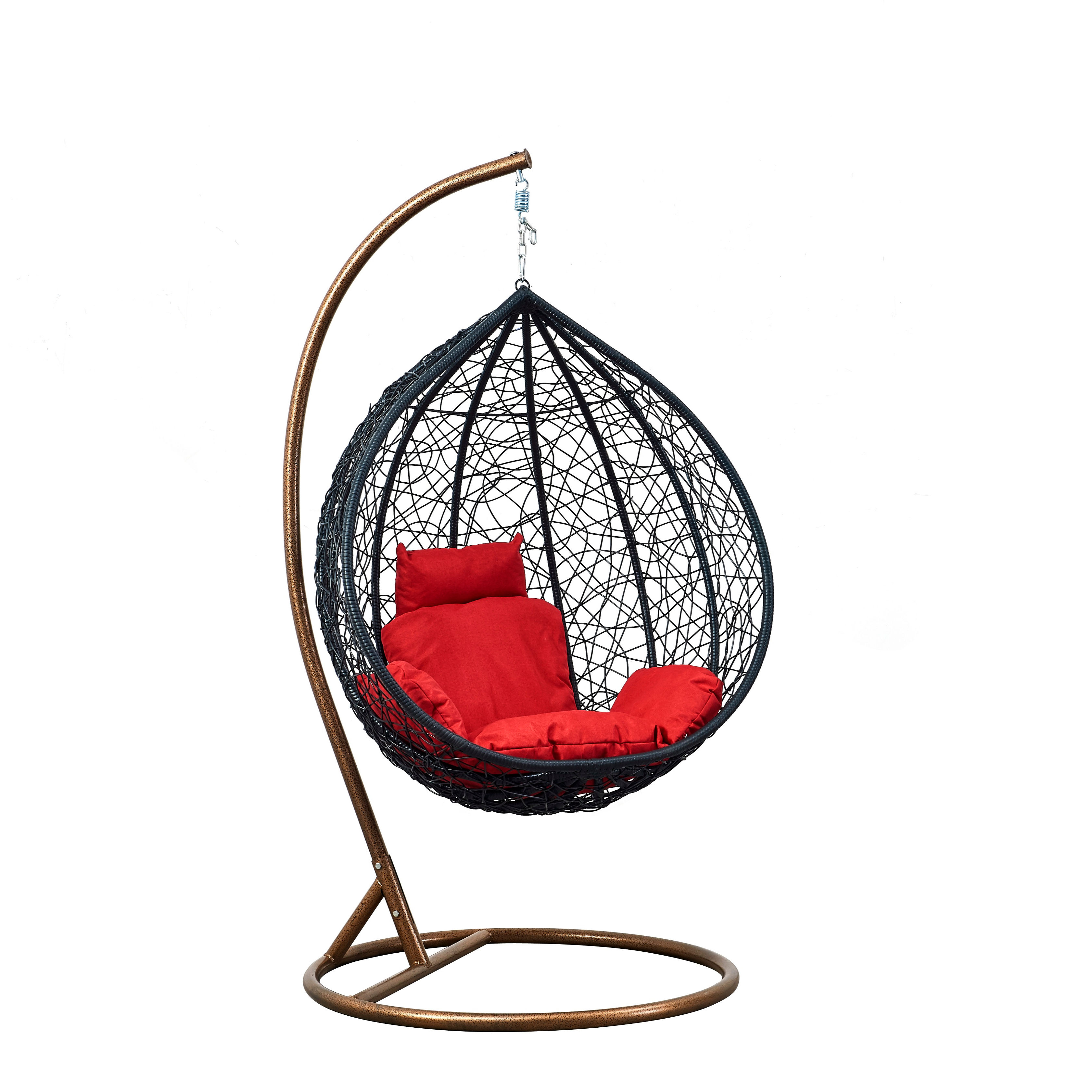 Hot Selling Garden Rattan Swinging Chairs Hanging Egg Chair Cheap Leisure Wicker Patio Swing Chair