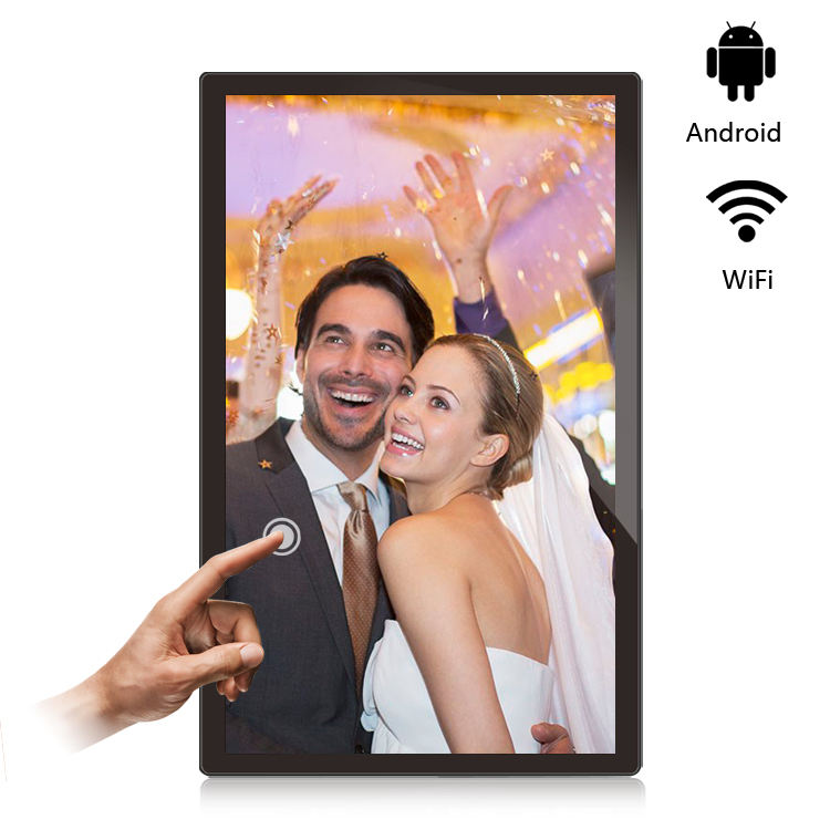 Advertising LCD Outdoor Android Wall Mounted Digital Signage Display Media Player 21.5 inch