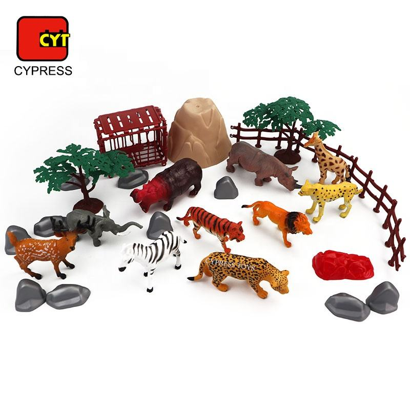 Kids Toys [ Toys Toy Animal Set Zoo ] CYPRESS TOYS High Quality 30PCS PVC Plastic Toy Nature World Wild 3D Animal Figures Toys Set Zoo Kids Toys